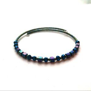 Jewelry - Hematite crystal wrap bracelet soulmate message